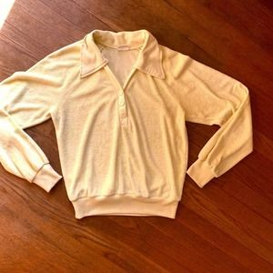 Vintage 60s Yellow Terrycloth Sears Shirt